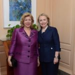 En compagnie d'Hillary Clinton