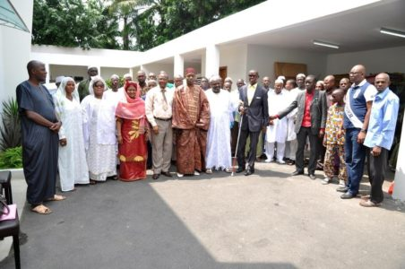 Mrs. Dominique Ouattara shows solidarity with Muslims