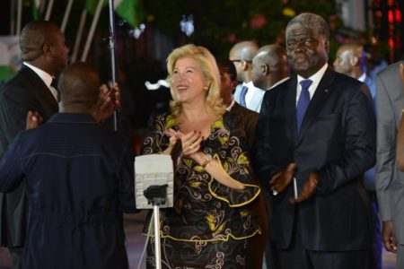 Mrs. Dominique Ouattara has launched the illumination of the city of Abidjan