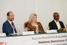 La Première Dame, Mme Dominique Ouattara a présidé la 3ème réunion des partenaires et des membres du conseil de fondation de l'International Cocoa Initiative (ICI)