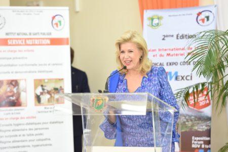 Dominique Ouattara supports the Universal Health-Care Coverage
