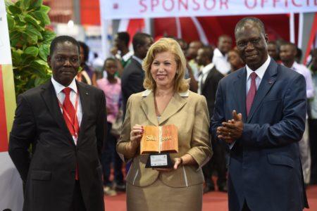 Mrs. Dominique Ouattara receives the 2014 SILA awarded