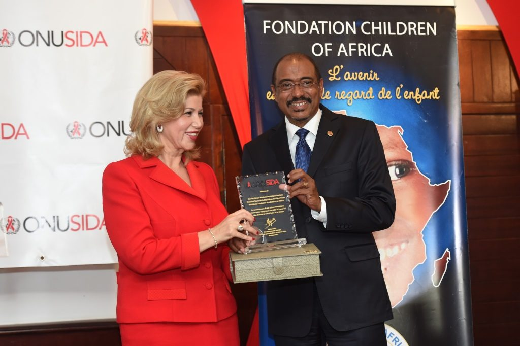 Dominique Ouattara appointed special Ambassador for UNAIDS to speed up access to pediatric treatment of HIV and AIDS