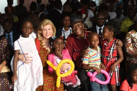 Mrs. Dominique Ouattara Celebrates Christmas Magic with 3,000 Children