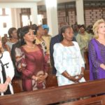 La Première Dame, Dominique Ouattara a prié en compagne de la grande chancelière, Henriette Dagri Diabaté et de l'épouse du Premier Ministre, Clarice Duncan