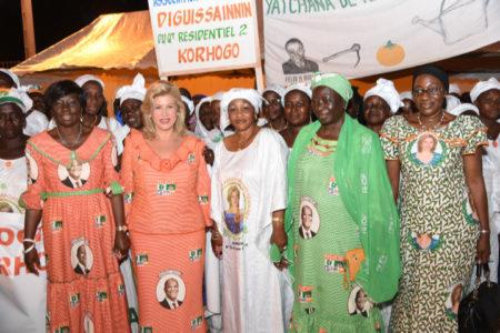 Dominique Ouattara met les femmes en mission pour la victoire d'ADO