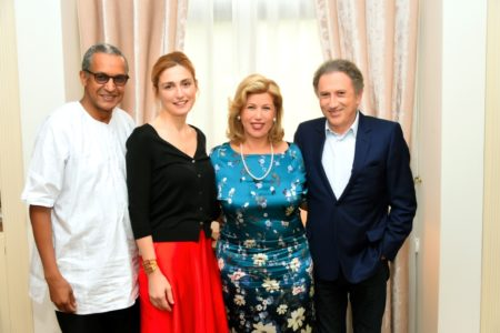 From Left to Right Abderrahmane Sissako Julie Gayet the First Lady Dominique Ouattara and Michel Ducker
