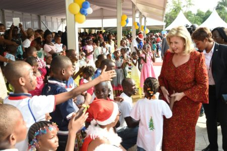 3,000 children celebrate the magic of Christmas with Dominique Ouattara