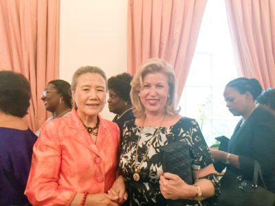 Dominique Ouattara attended the tea-reception offered by the spouse of the UN Secretary General