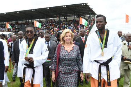 Gagnoa Celebrated their children Ruth Gbagbi and Cissé Sheikh Sallah