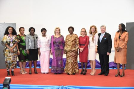 The First Ladies of Côte d'Ivoire and Central African Republic chair the event