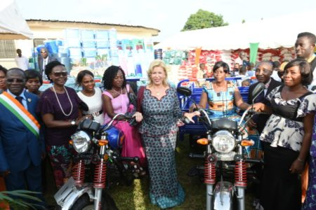 First Lady Dominique Ouattara ''spoils'' Gbagbi Ruth's Parents