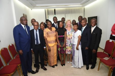 Dominique Ouattara rend hommage à Marie-Josée Ta Lou après ses 2 médailles d'argent obtenu à Londres