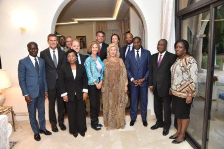 Une délégation du Groupe Mars chez la Première Dame, Dominique Ouattara