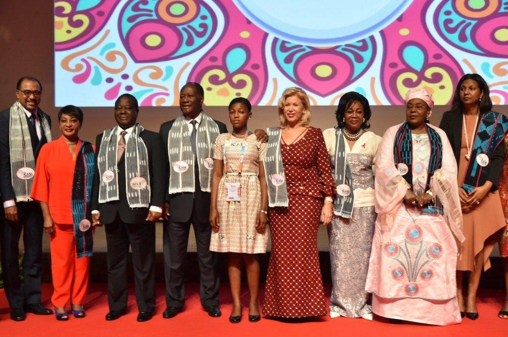 Dominique Ouattara advocates for local production of pediatric ARVs