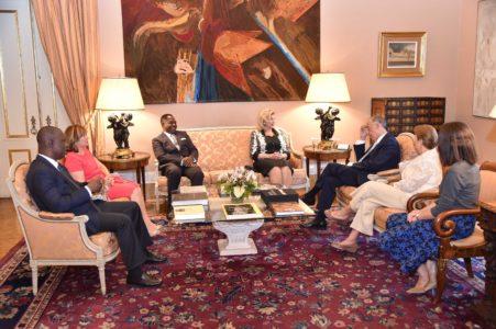 President Marcelo de Rebelo receives Dominique Ouattara