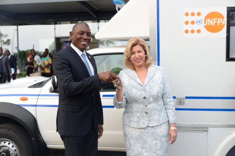 UNFPA offers an ambulance to the Bingerville Mother and Child's Hospital